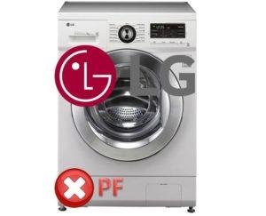 Kesalahan PF dalam mesin basuh LG