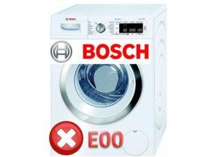 Mesin basuh Bosch - ralat E00
