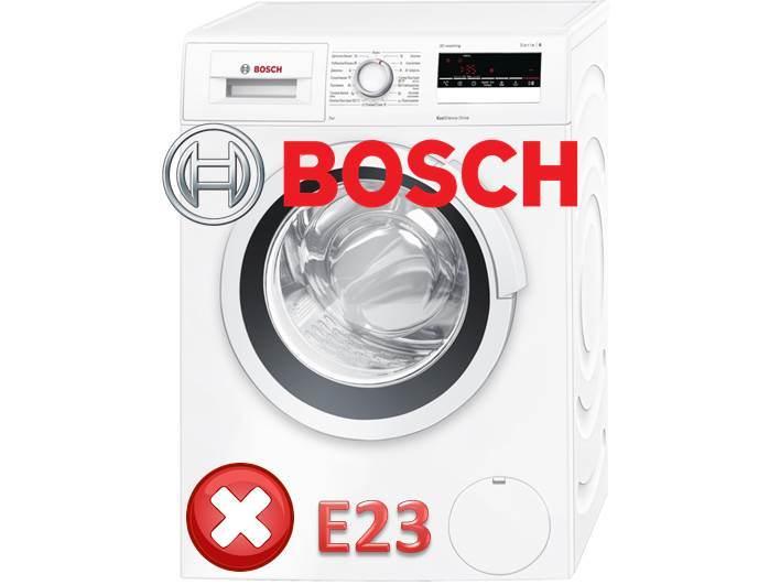 Грешка E23 в пералнята на Bosch