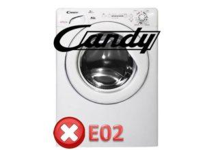 Грешка E02 в пералня Candy