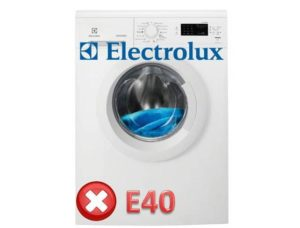 Error E40 in the washing machine Electrolux