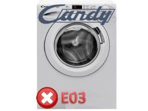 Pogreška E03 u perilicama rublja Kandy