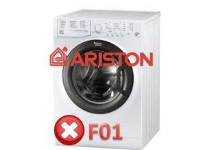 Ralat F01 di mesin basuh Ariston
