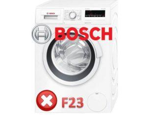 Грешка F23 в пералнята на Bosch