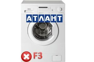Pogreška F3 u stroju za pranje Atlant-a