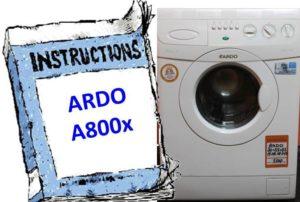 Ръководство за пералня Ardo A800X