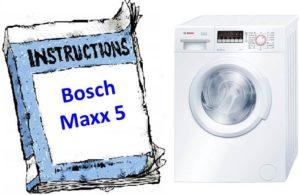 Ръководство за шайба Bosch Maxx 5