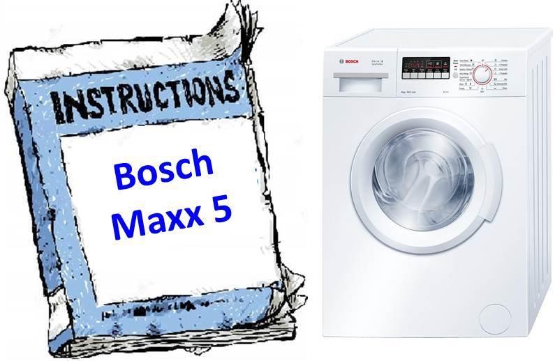 Handbuch für Waschmaschine Bosch Maxx 5
