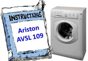 Ръководство за пералня Ariston AVSL 109