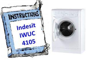 Ръководство за пералня Indesit IWUC 4105