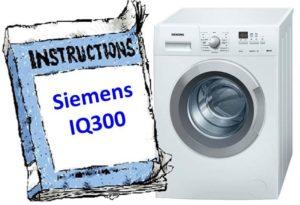 Инструкции за пералнята Siemens IQ300