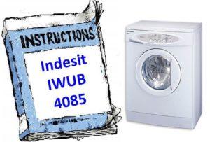 Ръководство за пералня Indesit IWUB 4085