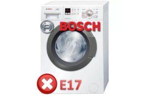 Ralat E17 dalam mesin basuh Bosch