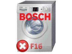 Ralat F16 dalam mesin basuh Bosch