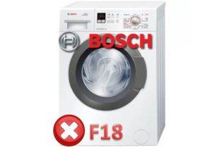 Ralat F18 dalam mesin basuh Bosch