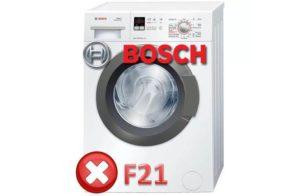 Ralat F21 dalam Mesin Stiral Bosch