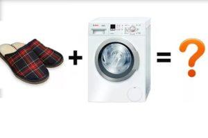 Bagaimana untuk membasuh selipar di mesin basuh