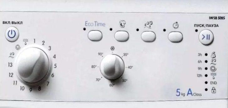 Indesit IWSB 5085 контролен панел