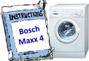 kézikönyv a Bosch Maxx 4-hez