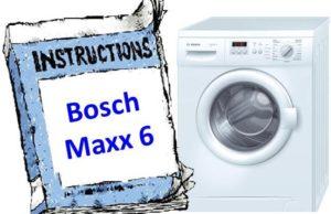 Ръководство за шайба Bosch Maxx 6