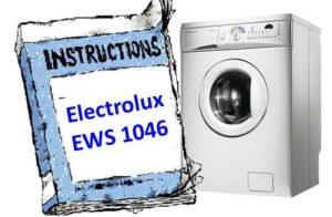 Ръководство за шайба Electrolux EWS 1046