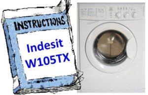 Ръководство за пералня Indesit W105TX