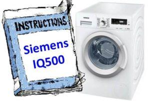 Инструкции за пералнята Siemens IQ500