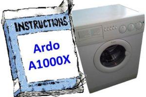 Ръководство за пералня Ardo A1000X