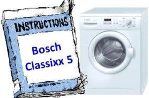 Ръководство за шайба Bosch Classixx 5