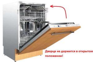 Vrata perilice posuđa ne zaključavaju se u otvorenom položaju