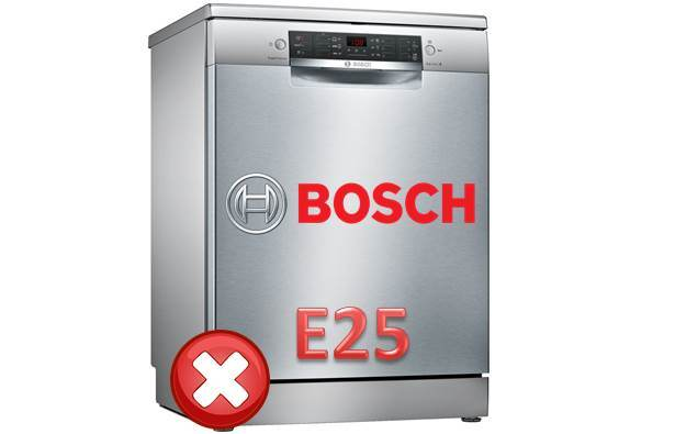 Грешка E25 в съдомиялната машина на Bosch