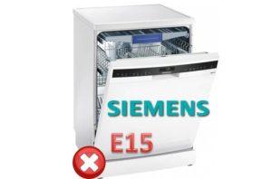 Pogreška E15 u Siemensovoj perilici posuđa