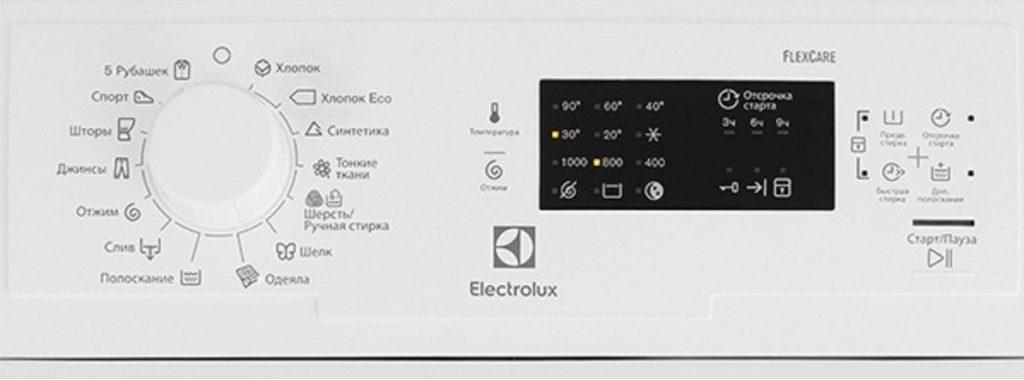 Electrolux EWT 0862 IDW контролен панел
