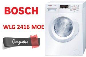 Mosó Bosch WLG 2416 MOE - vélemények