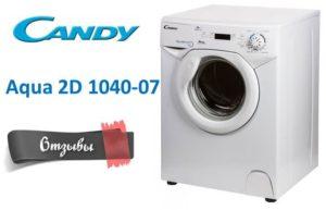 Vélemények a Candy Aqua 2D 1040-07 mosógépről