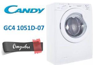 Vélemények a Candy GC4 1051D-07 mosógépről