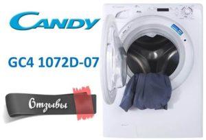 Vélemények a Candy GC4 1072D-07 mosógépről