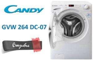 vélemények a Candy GVW 264 DC-07-ről