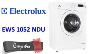 vélemények az Electrolux EWS 1052 NDU-ról