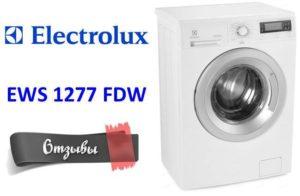 Vélemények a mosógépről Electrolux EWS 1277 FDW