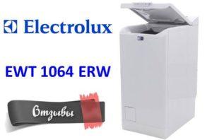 Vélemények a mosógépről Electrolux EWT 1064 ERW