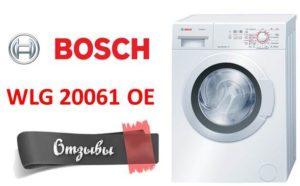 Bosch WLG 20061 OE mosógép áttekintés