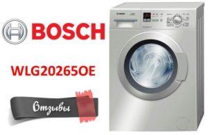 Bosch WLG20265OE mosógép vélemények
