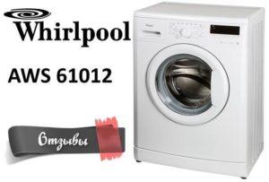 vélemények a Whirlpool AWS 61012-ről