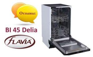 Ulasan mengenai mesin basuh pinggan mangkuk Flavia BI 45 Delia