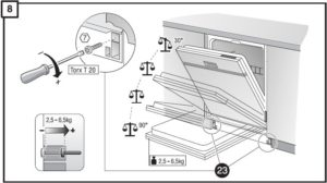 Bagaimana untuk menyesuaikan pintu mesin basuh pinggan mangkuk