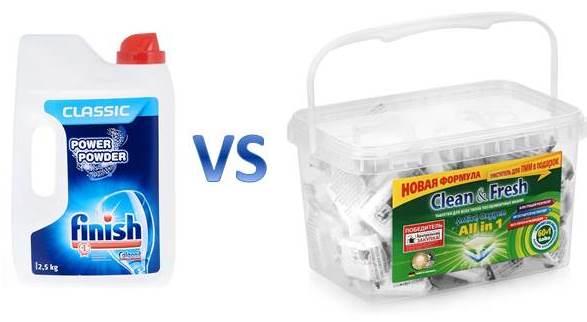 Какво е по-добре за прах или таблетки за съдомиялна машина