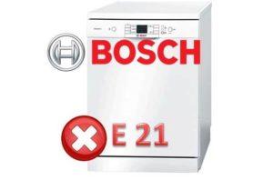 Bagaimana untuk membaiki kesilapan E21 dalam mesin pencuci pinggan Bosch
