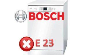 Kako popraviti pogrešku E23 u Bosch perilici posuđa