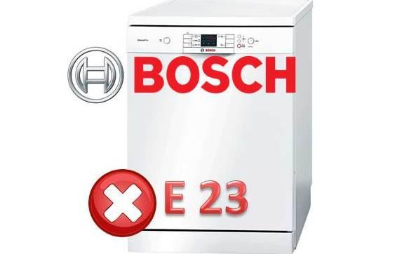 Как да поправите грешка E23 в съдомиялна машина на Bosch